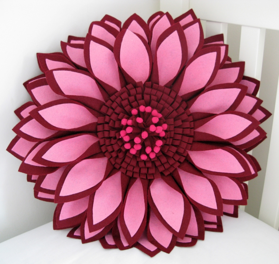 Made Out Of Love Blog Archive Pink 3d Flower Cushion