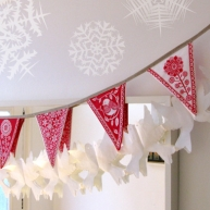 Christmas bunting red